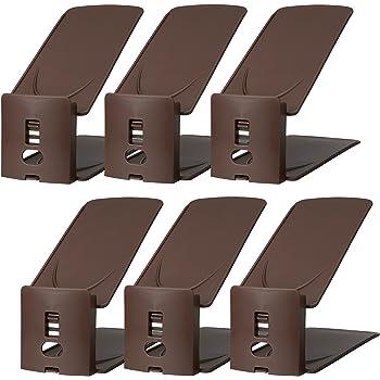 ライクイット(like-it)靴収納靴 ホルダー 高さ調節機能付き 6P幅10x奥27.2x高10~18.5cmブラウン日本製