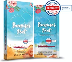 Summer Foot Premium Foot Mask for Soft Baby Feet | Exfoliating Foot Peel Remove Callus & Repair rough heels with only 1 USE | Tested in Germany Best Results