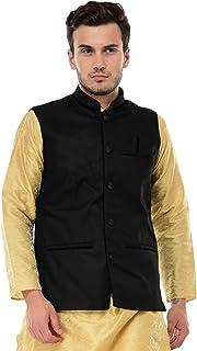 Bis Creations Men's Black Festive Nehru Jacket/Waistcoat