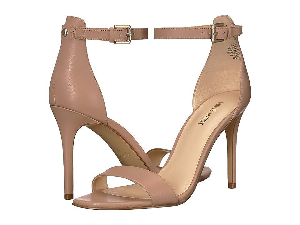 Nine West Mana Stiletto Heel Sandal (Barely Nude Dress Calf) High Heels