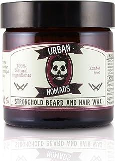 Bart Balsam & Wachs starker Halt für Männer - Urban Nomads | Pflege & Konditionierung für Bart, Schnurrbart, Haare | 100% natürliches antibakterielles | Carotinen, Bergamotte, ätherische Öle | 60ml