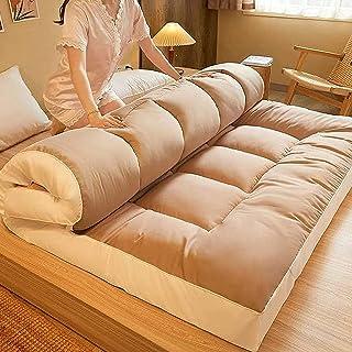 Dikke Tatami Matras Matras, 7-8 cm Draagbare Futon Matras Ademend Katoen Kinderen Slaapmat Opvouwbare Roll Up Floor Lounge...