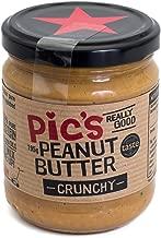 Pic's Peanut Butter ピックスピーナッツバター あらびきクランチ 195g 8本セット