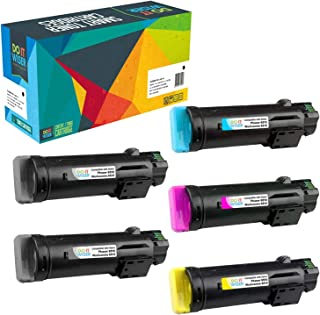 Do it Wiser Compatible Toner Cartridge Replacement for Xerox Phaser 6510, WorkCentre 6515 High Yield (5 Pack, 2 Black, 1 CMY)