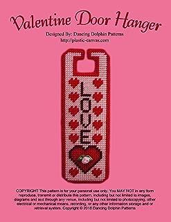 Valentine Door Hanger: Plastic Canvas Pattern