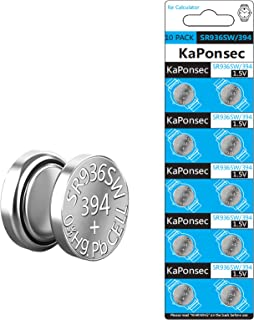 KaPonsec SR936SW 394 AG9 LR936 1.5V Button Coin Cell Watch Battery (10-Pack)