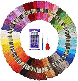 Beginning Embroidery Kit, 156pcs Hand Embroidery Starter Kit Including 144 Rainbow Multicolored Embroidery Thread And Othe...