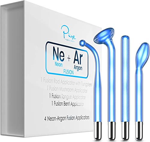 new arrival NuDerma FUSION Wand 4-Piece Set - Neon & Argon fusion glass applicators for sale Nuderma - discount Compatible with all NuDerma systems – High Frequency Upgraded FUSION Wand Set –Skin Tightening online