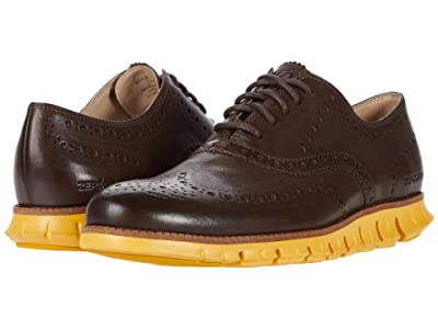 Cole Haan Zerogrand Wing Tip Oxford (Bracken Leather/Golden Rod) Men