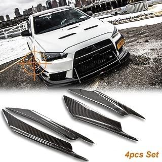 Xotic Tech 2 set Bumper Canards Splitters Carbon Fiber For Mitsubishi Lancer EVO X 10 08-17