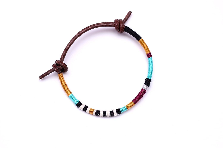 Thread Wrap Elegant Mens Opening large release sale Bracelet Leather