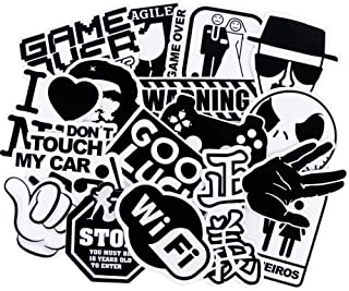 100 Pcs Not Repeat Transparent Black White Mixed Waterproof Stickers DIY Decals For Suitcase Motorcycle Skateboard Bicycle...