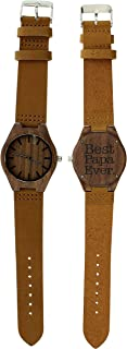 Fathers Day Gifts Best Papa Ever Best Papa Gifts Dad Watch Gift Set Engraved Wooden Watch Gift Set