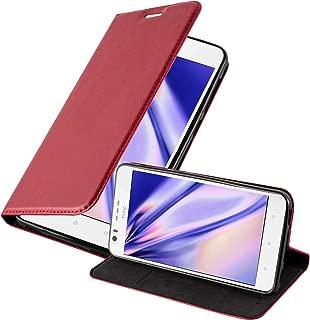 Cadorabo Book Case Works with HTC Desire 10 Lifestyle/Desire 825 Wallet Etui Cover APPLE RED DE-111343