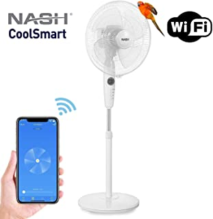 Smart WiFi Oscillating Pedestal Stand Fan 16-Inch, Compatible with Alexa & Google Home Voice Control, APP, Oscillation, Automation, NASH PF-1 CoolSmart.