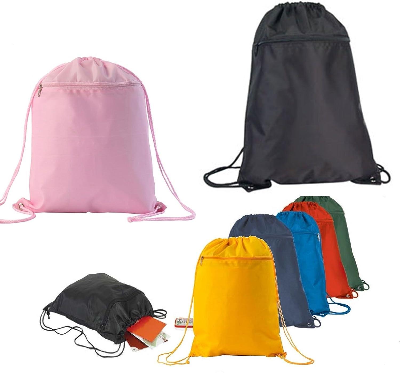 ProEquip Gym Drawstring Sack Bag Gym Bag Red, Yellow, Royal, Pink, Navy, Black