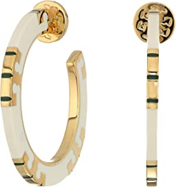 T-Stripe Hoop Earrings