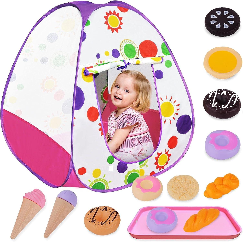 Yumlimn 14 High order PCS Max 58% OFF Kids Pop Up Play Food Toy w Tent Girls Set