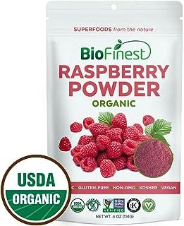 BioFinest Raspberry Juice Powder - 100% Pure Freeze-Dried Antioxidants Superfood - Usda Certified Organic Kosher Vegan Raw...