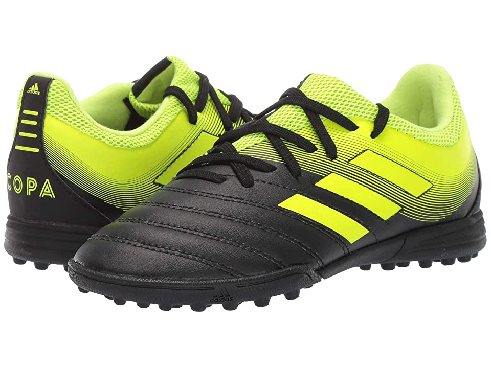 adidas Kids Copa 19.3 TF Soccer (Little Kid/Big Kid) (Black/Solar Yellow) Kids Shoes