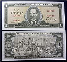 1979 CU GEM UNICRC 1979 CUBAN PESO BANKNOTE w CASTRO'S TRIUMPHANT ENTRY TO HAVANA! MARTI PORTAIT! 20TH ANNIVERSARY ISSUE! 1 PESO Gem Crisp Uncirculated