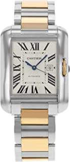 Cartier Tank Anglaise Medium Automatic Rose Gold and Steel Ladies Watch W5310037