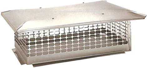 The Forever Cap CCSC1919 19 x 19-Inch Multi Flue Stainless Steel Crown Mount Chimney Cap, 1-Pack