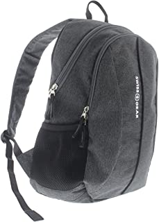 SwissGear SA1061 Laptop Computer Tablet Notebook Backpack - for School, Travel, Carry On Luggage, Women, Men, Student, Professional Use - Heather Grey, 19 Inches