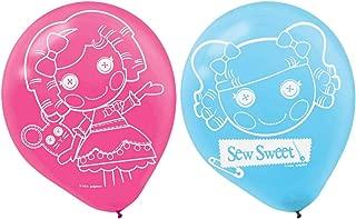 Adorable Lalaloopsy Printed Latex Balloons Birthday Party Decorations (6 Pack), Pink/Blue, 12