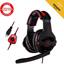 KLIM Mantis - Gaming Headphones - USB Headset with Microphone - for PC, PS4, Nintendo Switch, Mac, 7.1 Surround Sound - [ New 2019 Version ] - Noise Cancelling Gaming Headset