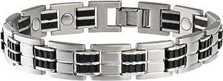 Sabona Executive Stainless/Rubber Magnetic Bracelet
