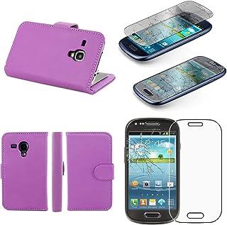 ebestStar – kompatibel med Samsung Galaxy S3 mini fodral GT-i8190, i8190N plånboksfodral PU-läder vikbart fodral med kortp...