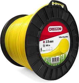 Oregon 69-377-Y Hilo de cortacésped redondo amarillo para cortadoras de césped y desbrozadoras, 3,5 mm x 124 m, 3.5mm x 124m