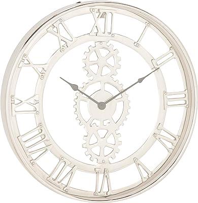 Deco 79 Wall Clocks, Medium, Silver, Black