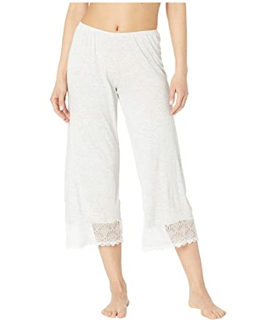 Only Hearts Venice Cropped Pants w/ Lace Hem (Heather) Women