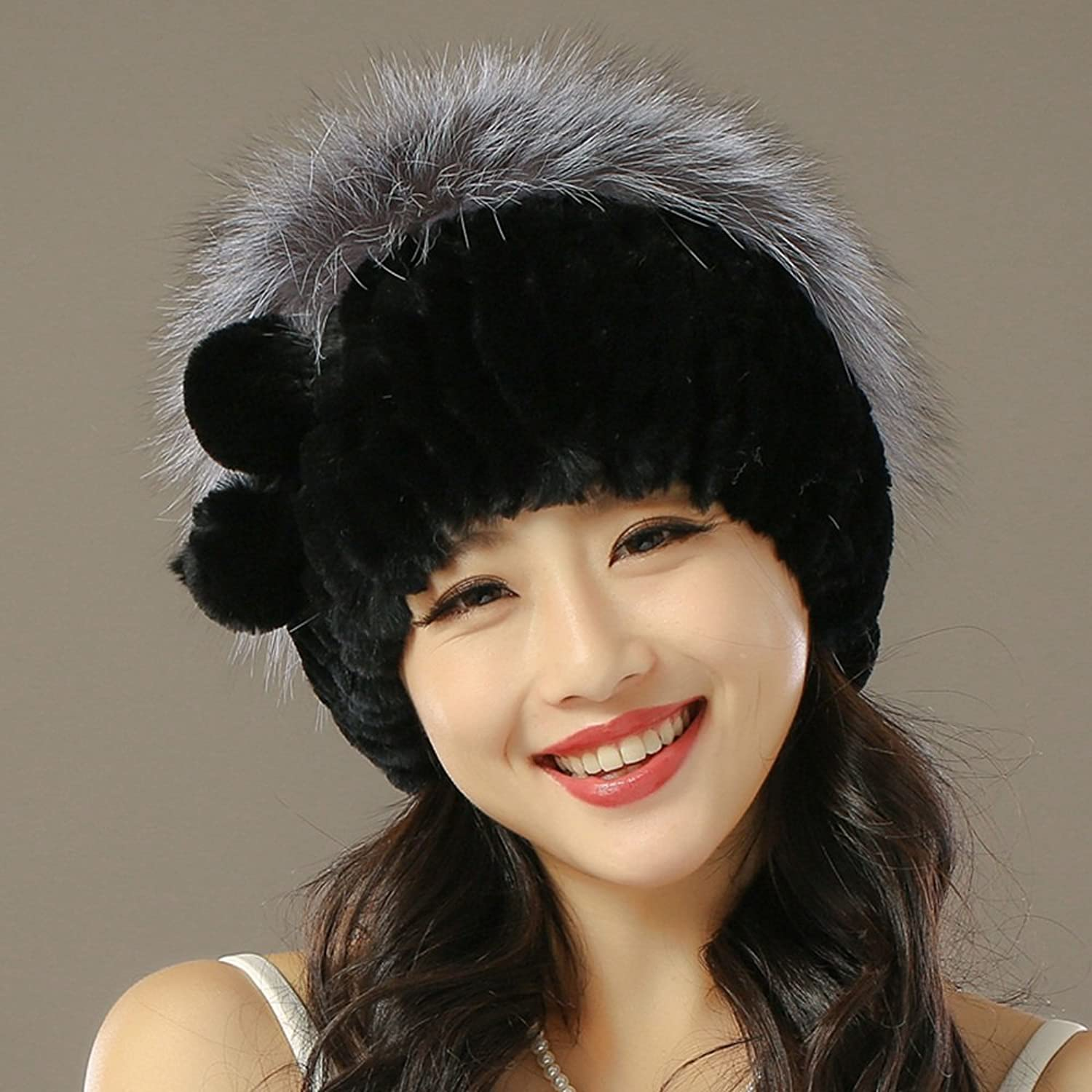 ZHANGRONG- Ms Fashion Hat Winter Keep Warm Hat Ear Predection Cap 8 colors -Winter outdoor warmth (color   5)