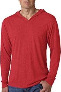 Next Level Apparel Tri-Blend Extreme Soft Rib Knit Hoodie, VINTAGE RED, Medium