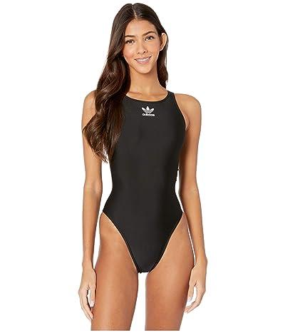 adidas Originals adiColor Trefoil Swimsuit (Black/White) Women