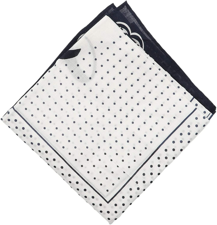 Jacob Cohen Logo Dot Loop Pattern Bandana Handkerchief