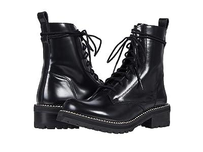 STEVEN NEW YORK Georgie (Black Leather) Women