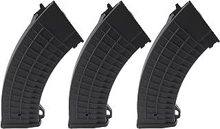 SportPro CYMA 150 Round Polymer Thermold Waffle Medium Capacity Magazine for AEG AK47 AK74 3 Pack Airsoft - Black