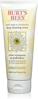 Las abejas de Burt Jabón Corteza y Manzanilla de limpieza profunda Crema Facial (limpiador facial cremoso con corteza de j...