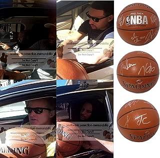 warriors team signed basketball