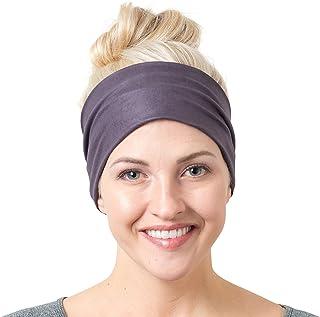 Yoga Headbands for Women and Men – Wide Non Slip Design Headband for Running Yoga..
