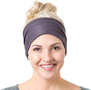 RiptGear Yoga Headbands for Women and Men - Wide Non Slip Design Headband for Running Yoga Fitness Fashion and Other Workouts