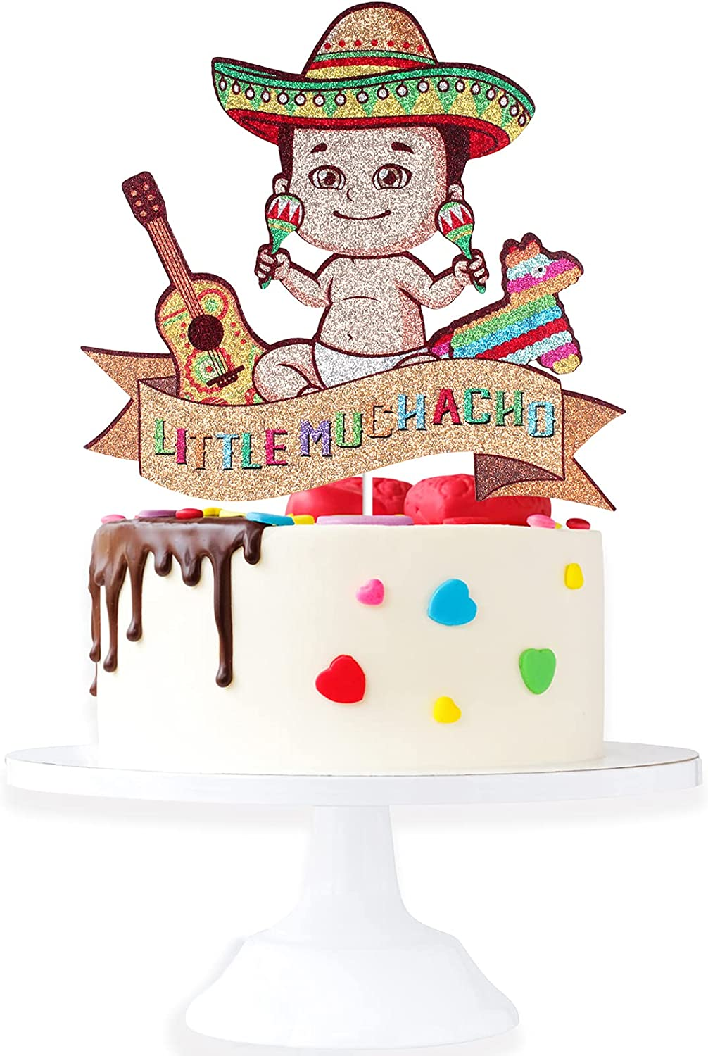 Little Muchacho Limited price At the price sale Birthday Cake Topper Shower Gender Boy - Baby