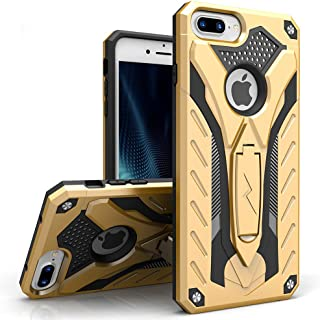 ZIZO Static Series Compatible with iPhone 8 Plus Case Military Grade Drop Tested with Kickstand iPhone 7 Plus iPhone 6s Plus Case Gold Black