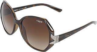 Vogue Unisex Cateye UV Protected Sunglasses (Vo-2773-W656/13, Brown)