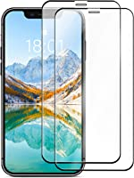 """Amazon Basics Full-Coverage Tempered Glass Screen Protector for iPhone X / XS and iPhone 11 Pro - 5.8 Inch, (5.43"""" x..."""