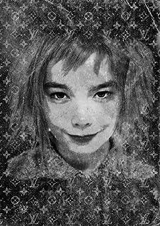 STAR DESIGN #sh102b Björk monogram (B) A4サイズ 【キャンバスポスター】 A4 (210×297mm) bjork ビョーク ルイ ヴィトン オマージュ アート ポスター